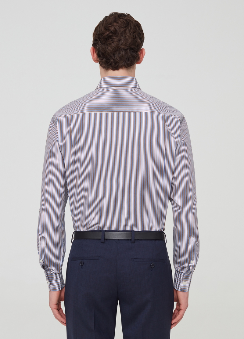 Regular-fit striped shirt with button-down collar image number null