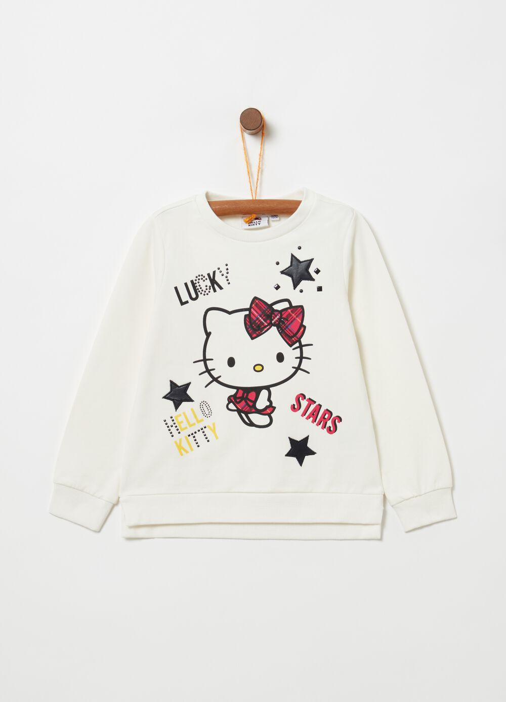 Felpa cotone stretch stampa Hello Kitty