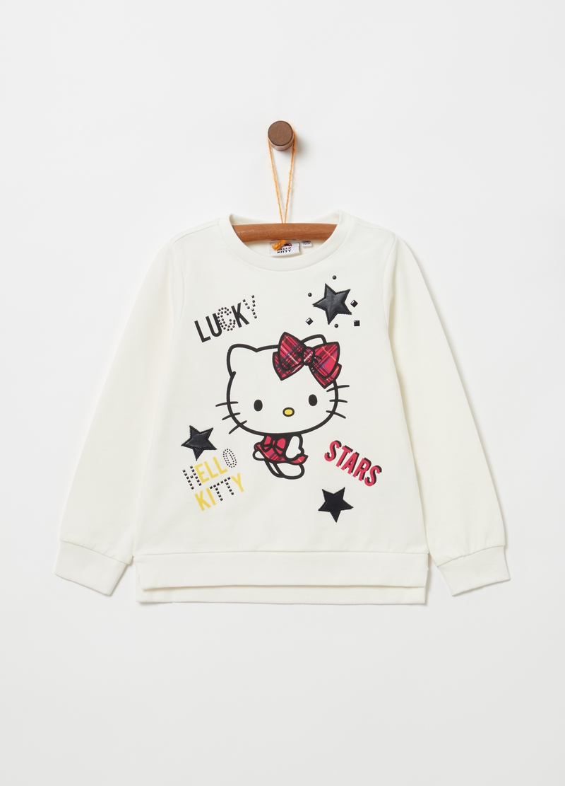 Felpa cotone stretch stampa Hello Kitty image number null