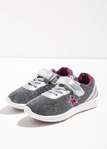 Glitter sneakers with stars