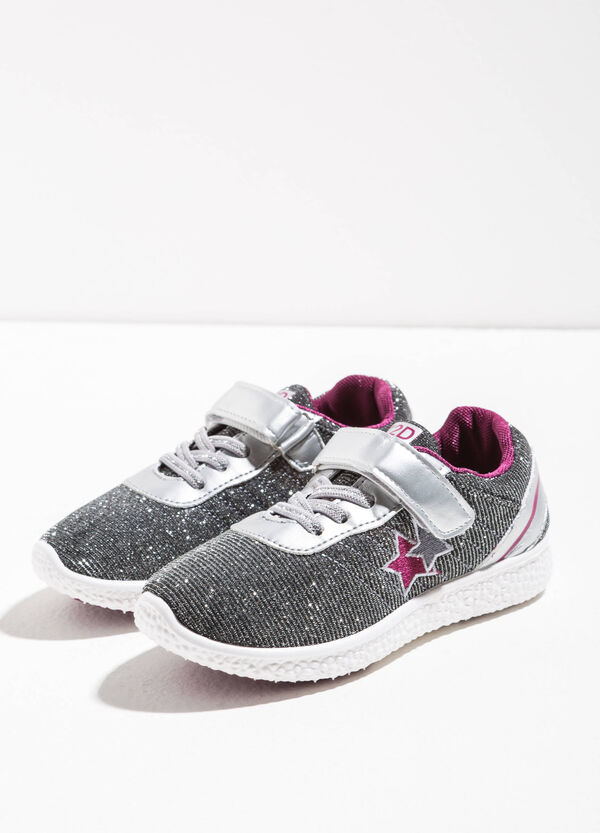 Glitter sneakers with stars | OVS