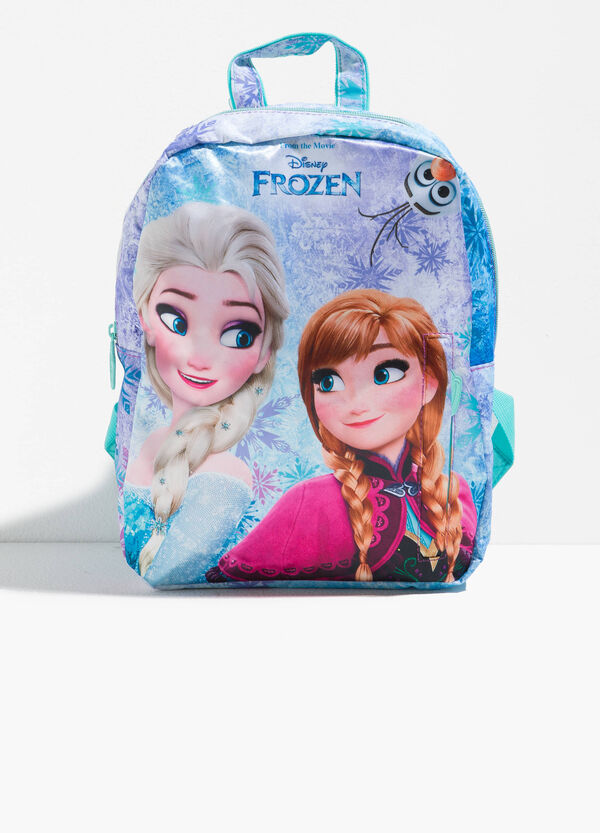Backpack with zip and Frozen pattern
