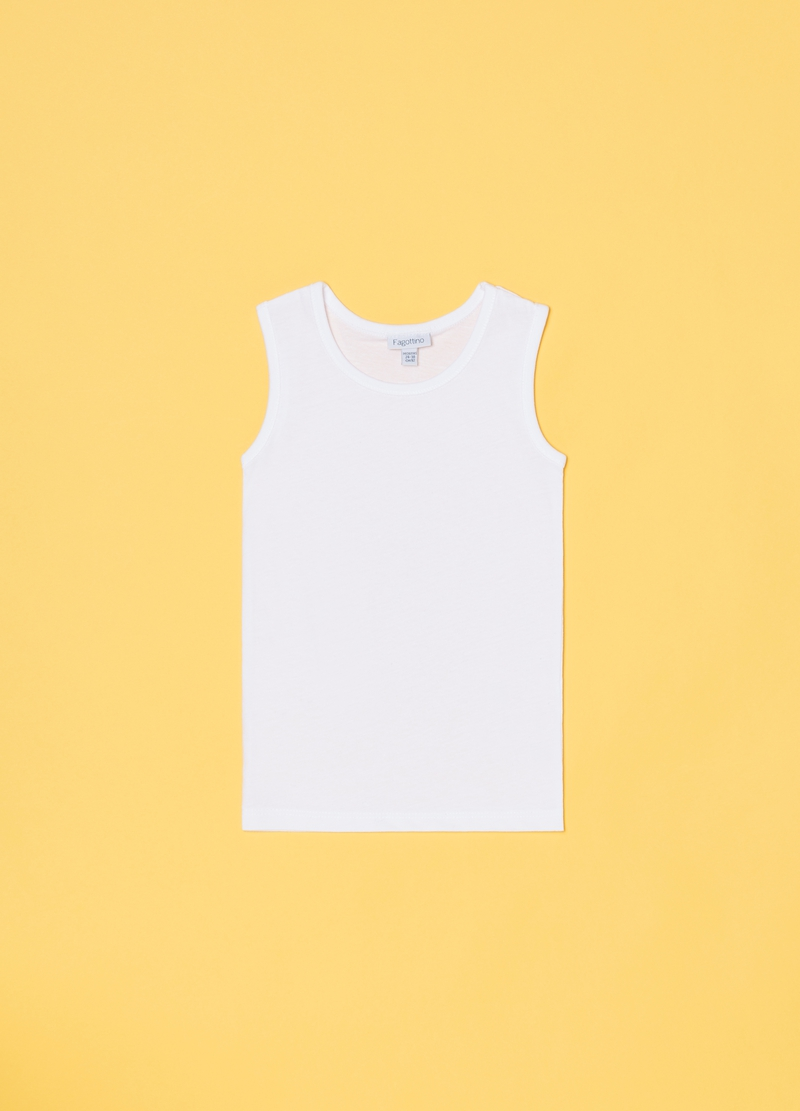 Three-pack vests with round neck in 100% cotton image number null