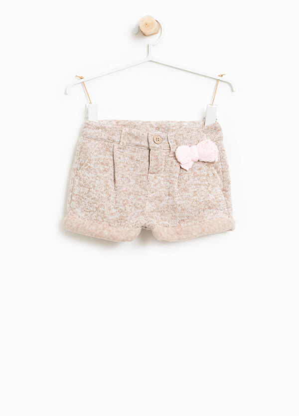 100% cotton mélange knitted shorts | OVS