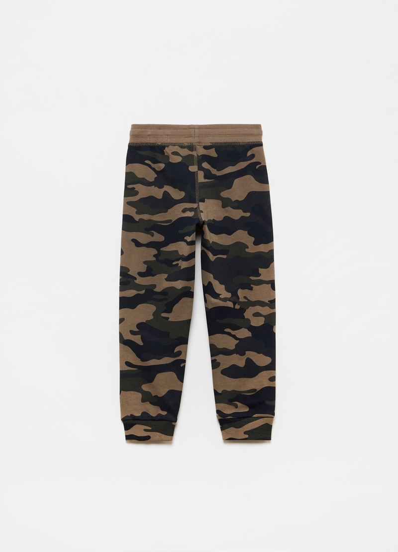 Camouflage French terry joggers image number null