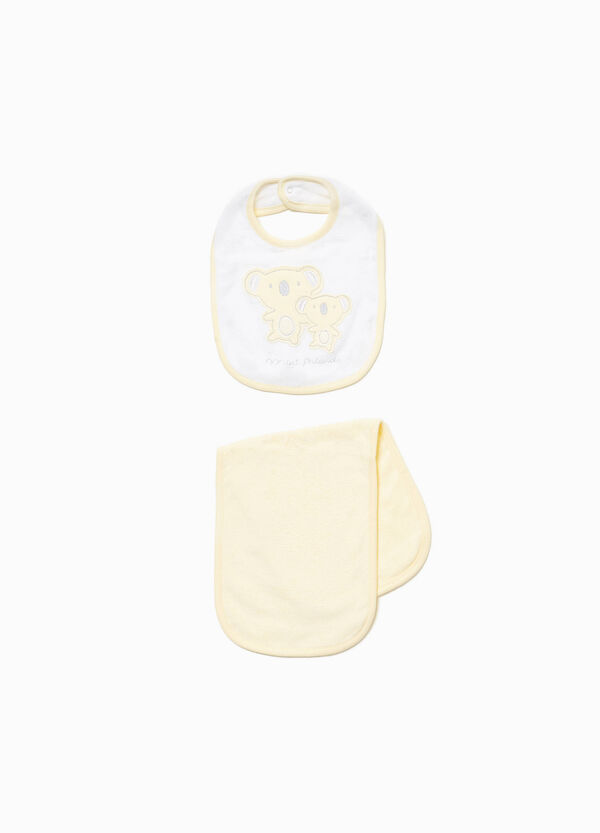 Koala towel and bib set