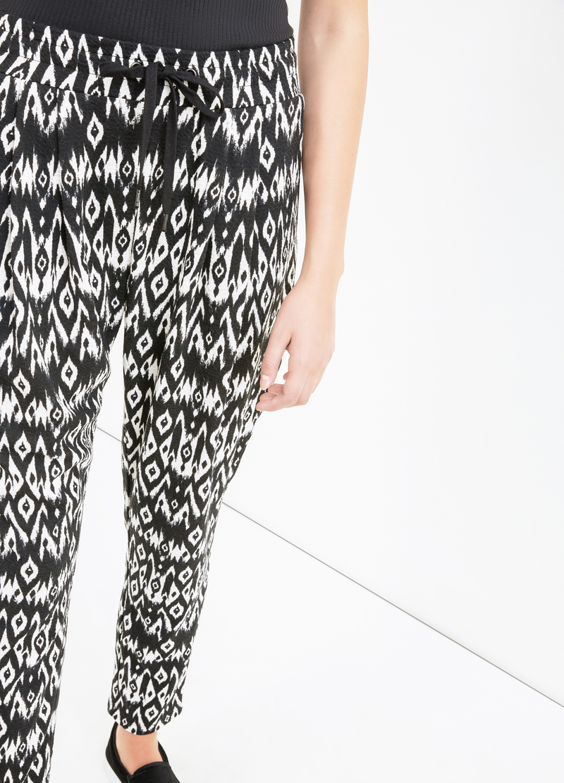 Jacquard patterned joggers image number null