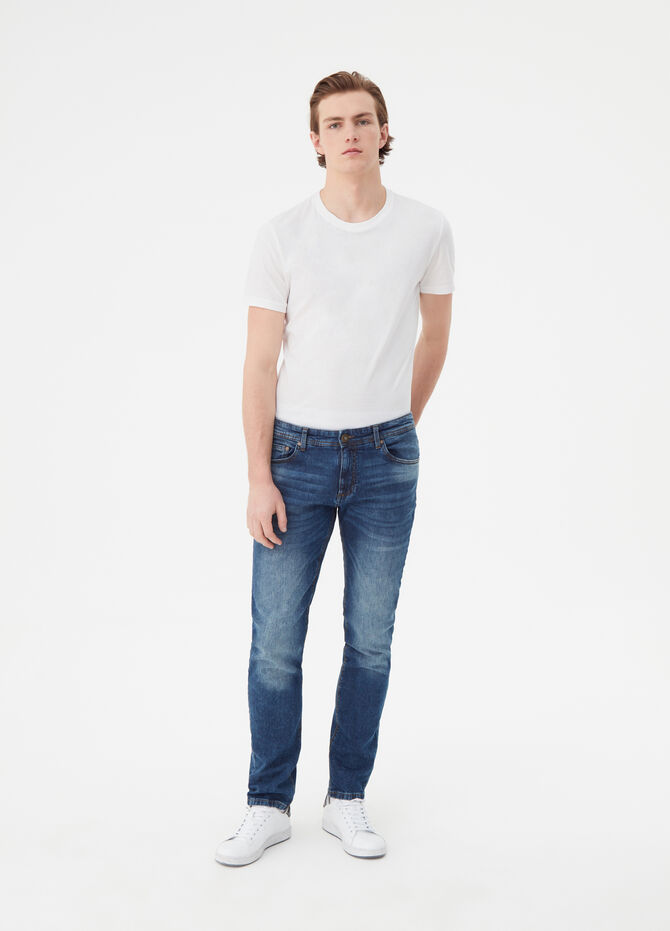 Jeans skinny fit effetto vintage