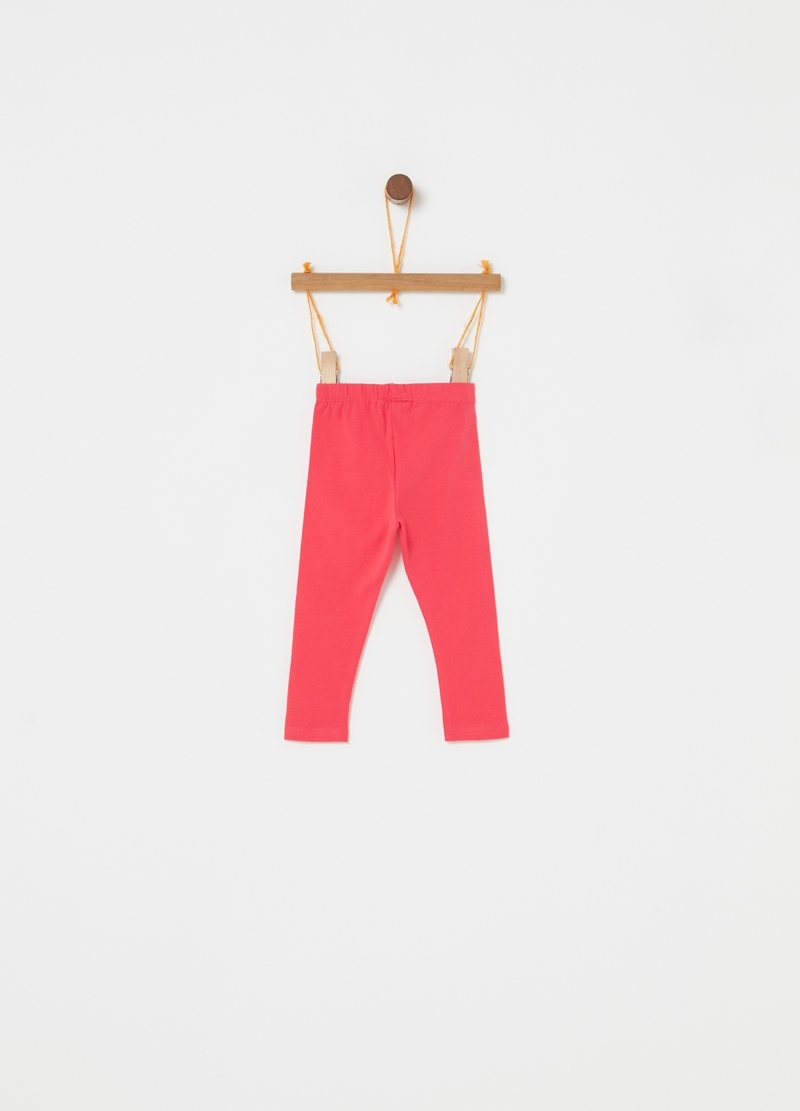 Leggings in biocotton stretch image number null