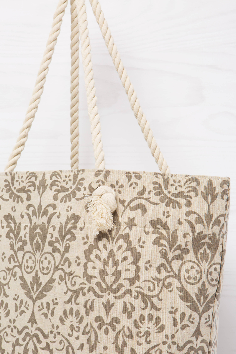 Jute bag with rope handles image number null