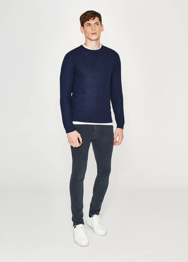 Cotton knitted pullover