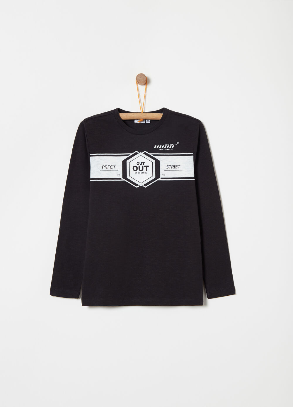 T-shirt in slub jersey with print