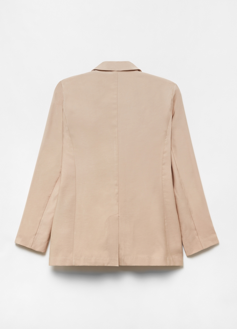 Check double-breasted blazer image number null