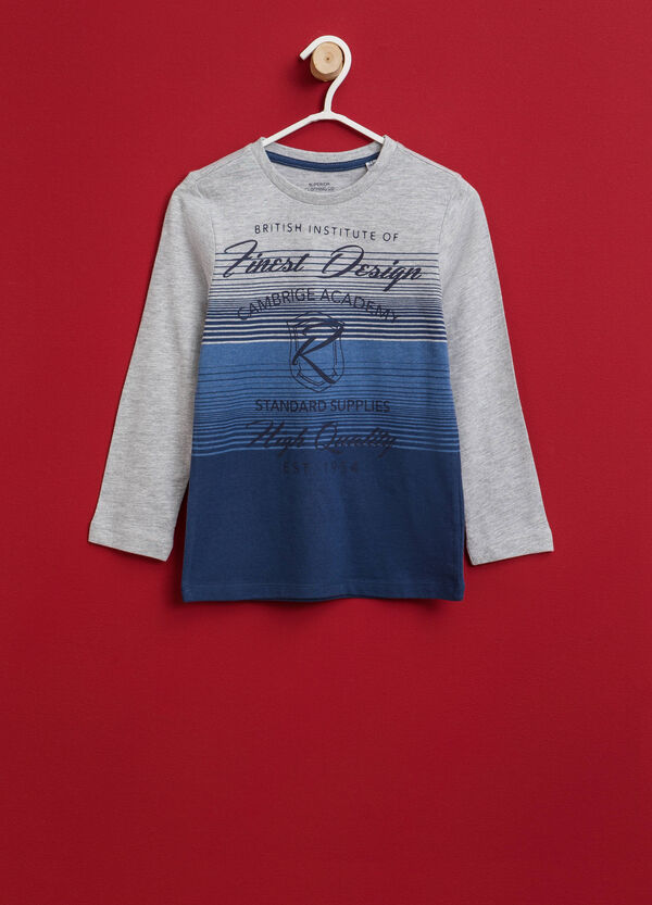 Striped T-shirt with printed lettering   OVS
