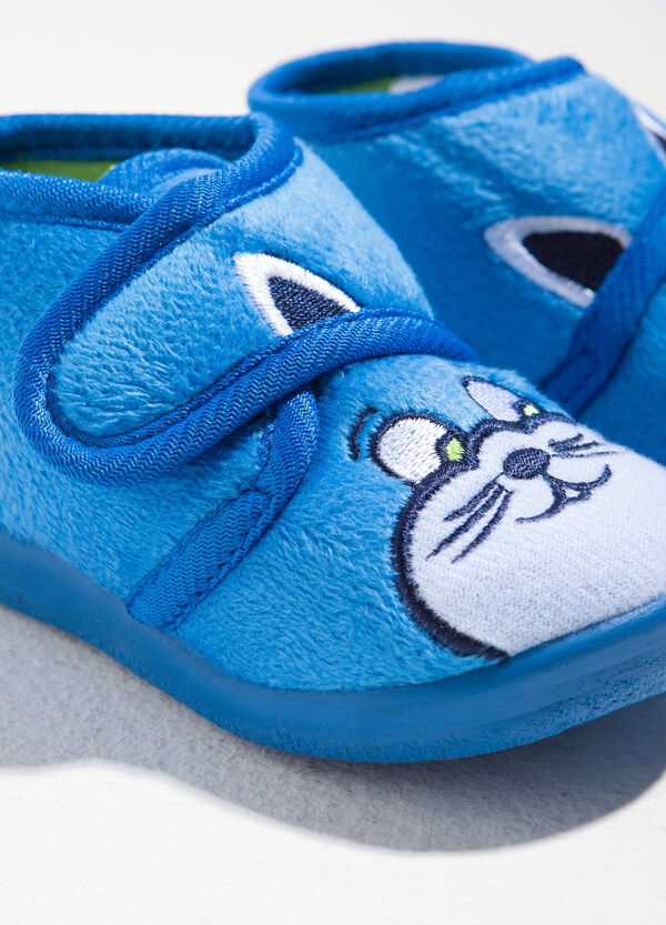 Tea slippers with animal embroidery | OVS