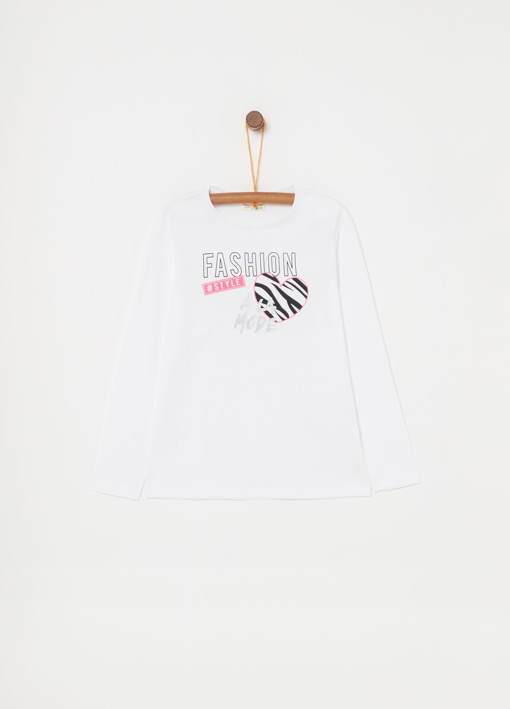 100% cotton T-shirt with zebra print