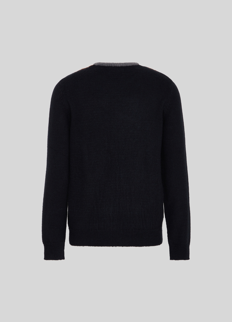 PIOMBO Pullover con motivo a rombi image number null