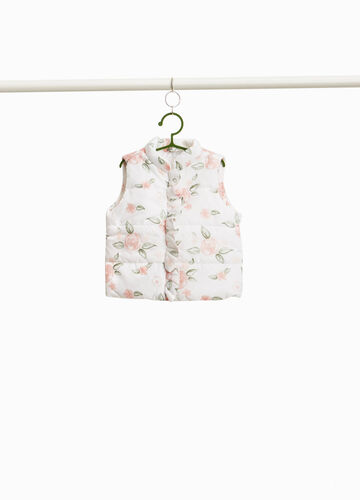 Padded gilet with floral pattern