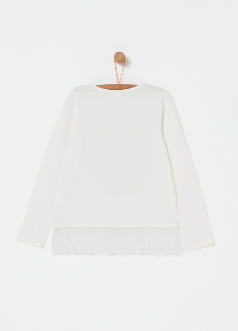 T-shirt con tulle e stampa LOL image number null