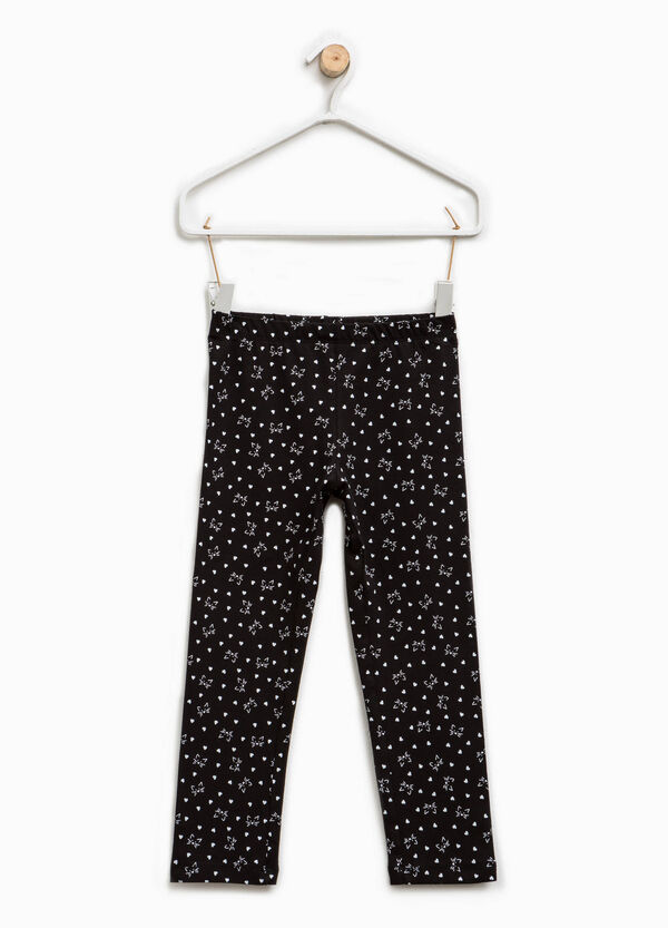 Cotton leggings with all-over print | OVS