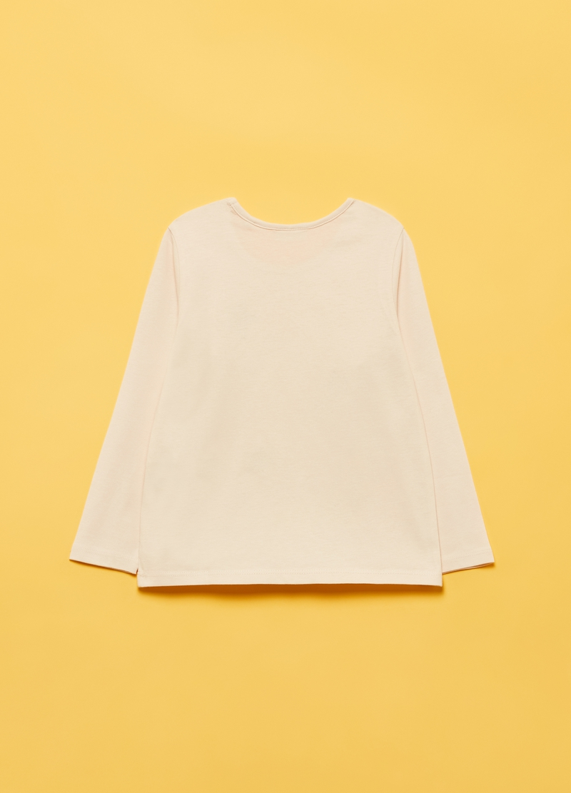 T-shirt puro cotone stelle glitter image number null