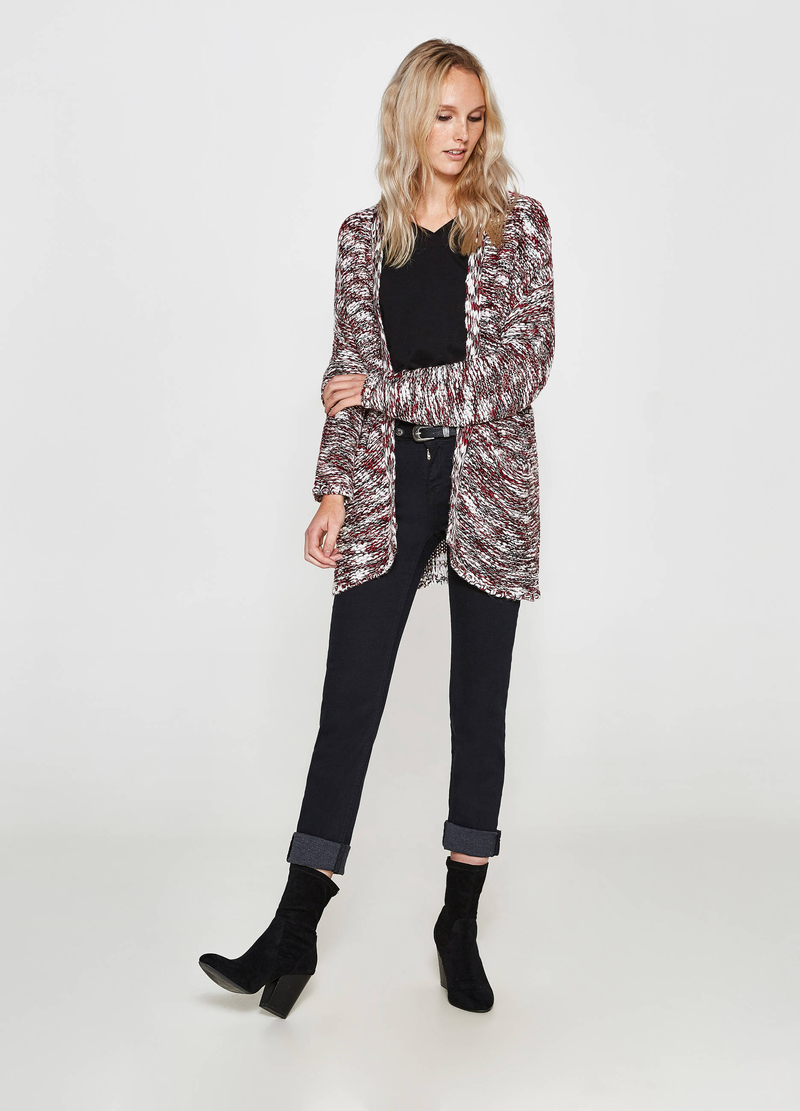 Cardigan tricot mélange collo a scialle image number null