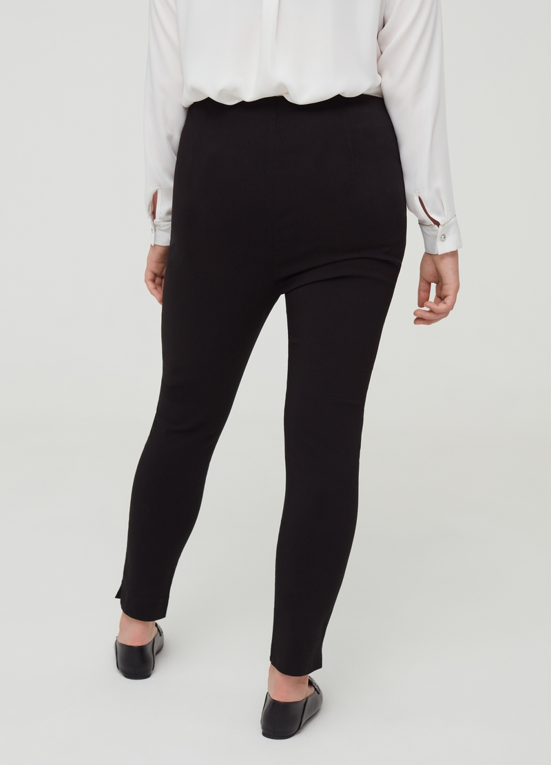 Curvy stretch trousers with splits image number null