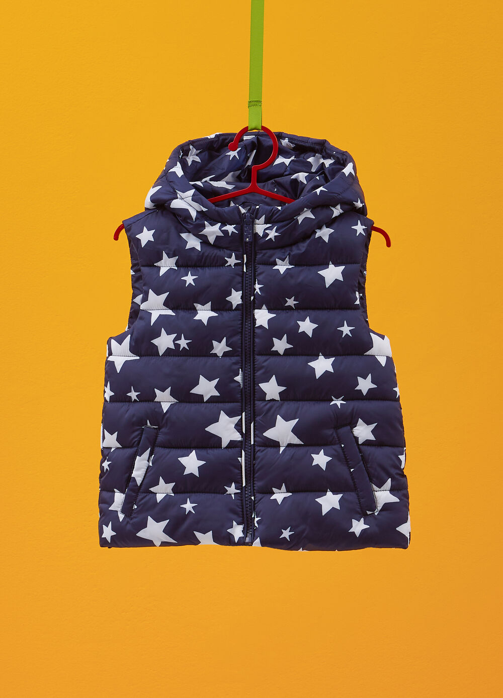 Gilet imbottito stampa stelle all-over