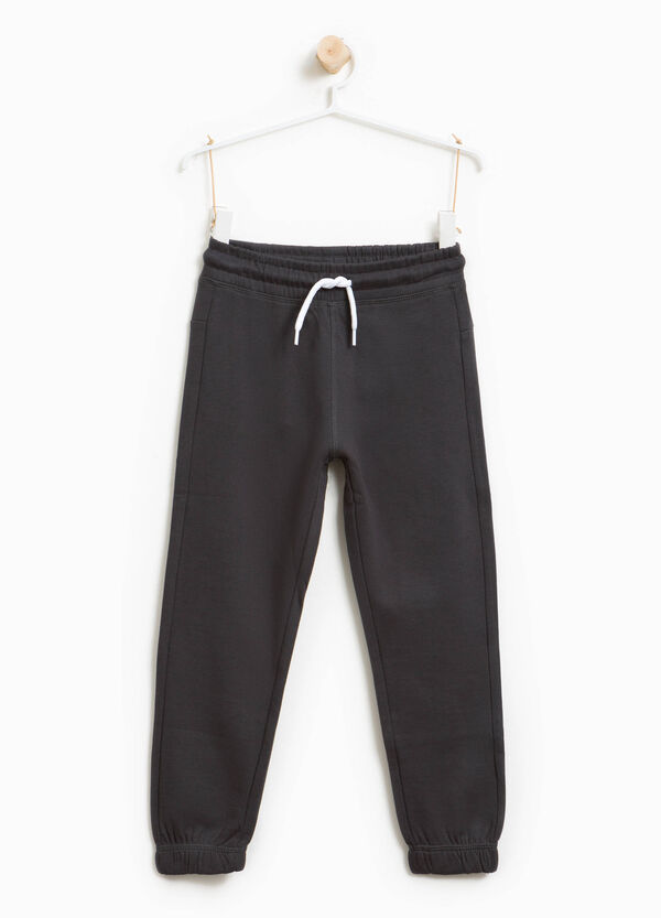 Joggers in 100% cotton with drawstring   OVS