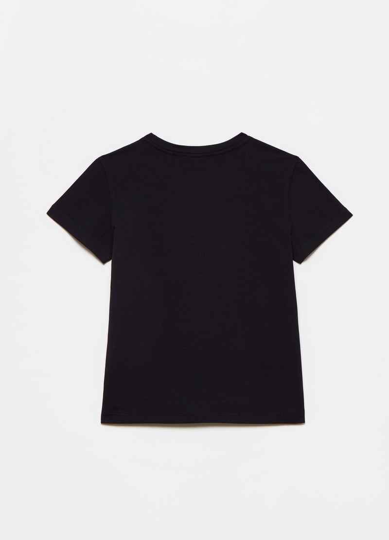 Stretch cotton T-shirt with crew-neck image number null