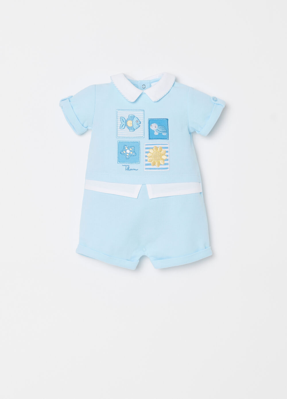 Short onesie with THUN patch
