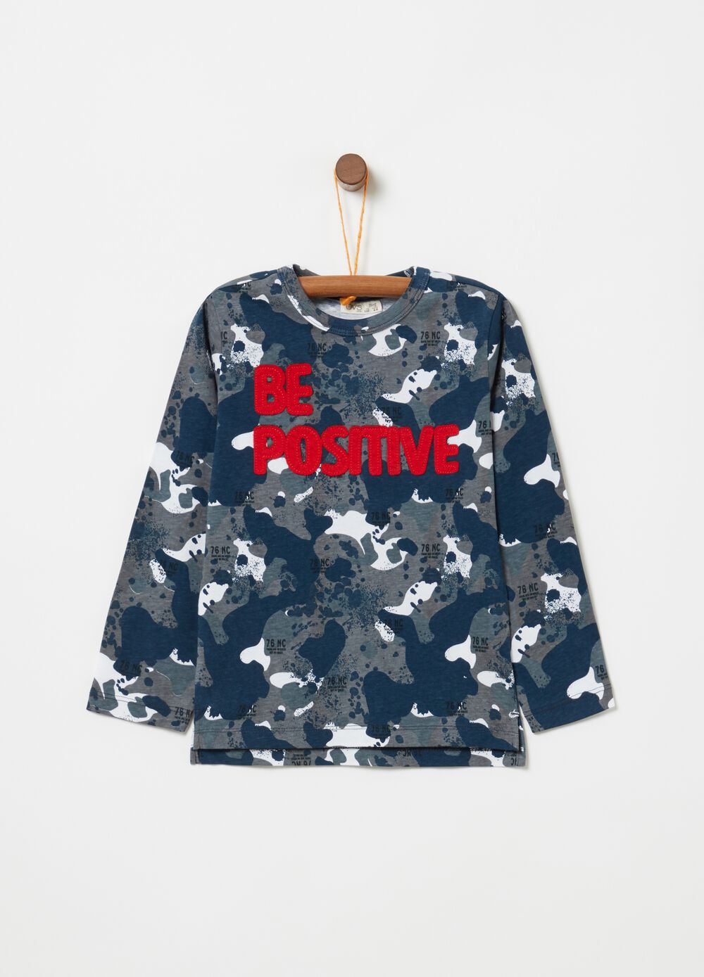 100% cotton T-shirt with camouflage pattern
