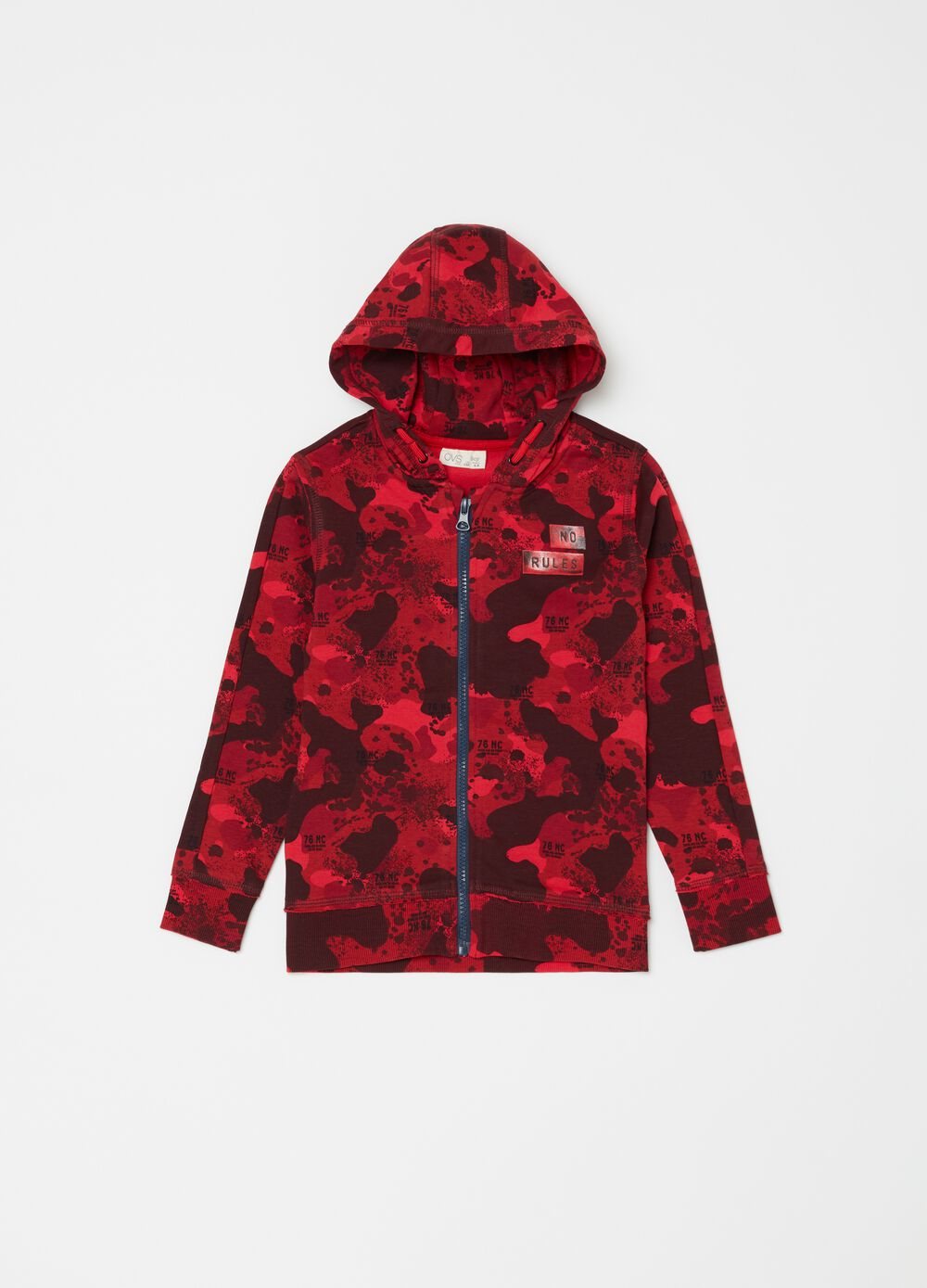 Camouflage patterned hoodie