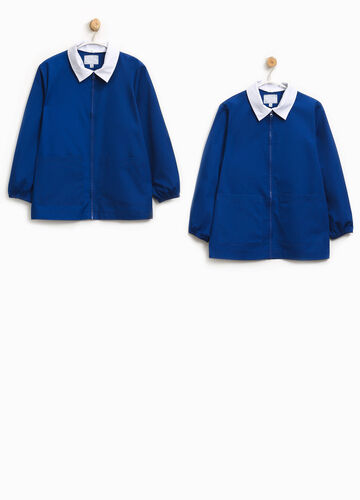 Cotton blend smock with zip