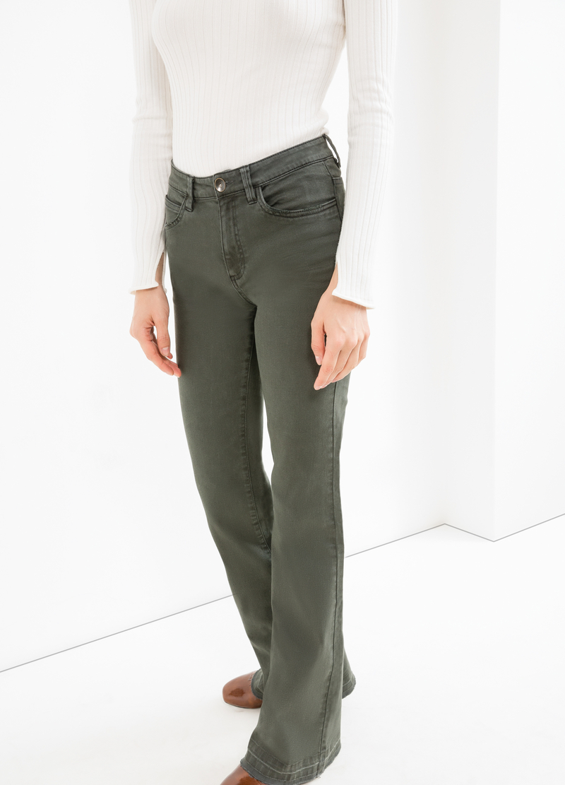 Pantaloni flare fit cotone stretch image number null