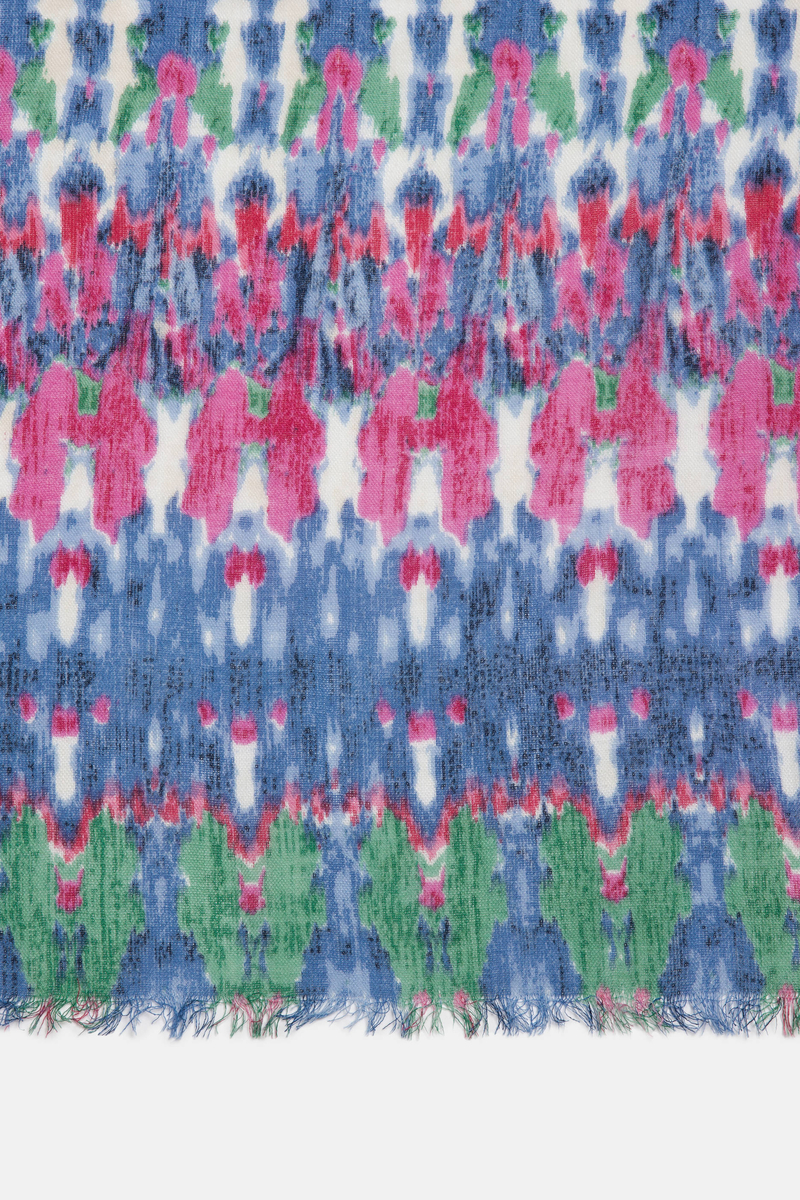 Pure viscose patterned scarf image number null
