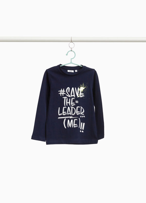 T-shirt lettering in puro cotone