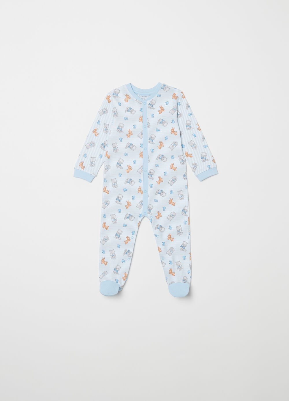 Sleep suit with animal pattern