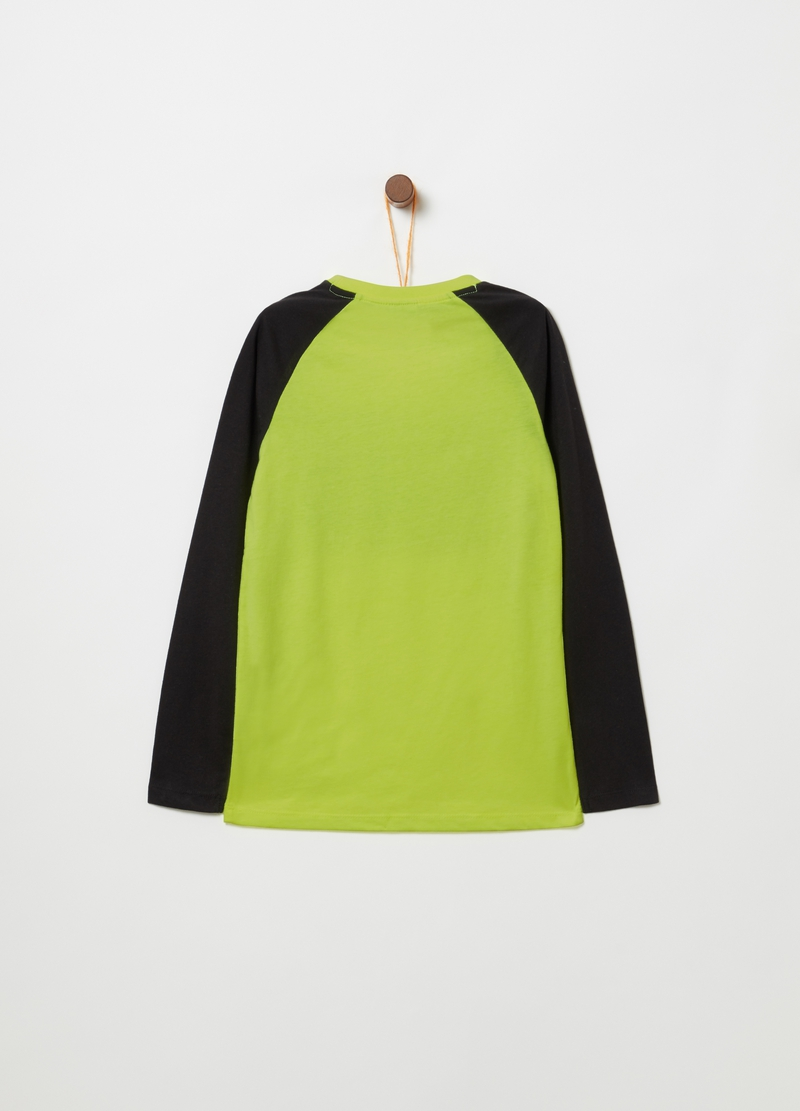 T-shirt with print and long raglan sleeves image number null