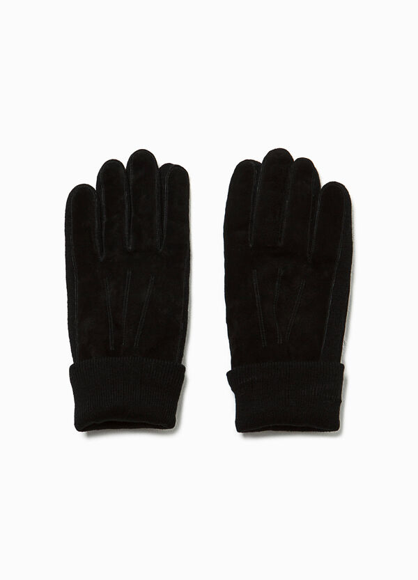 Genuine leather suede gloves
