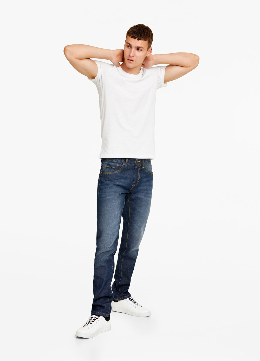 Straight fit, stonewashed jeans