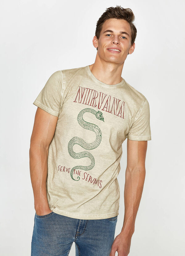 T-shirt in cotone stampa Nirvana | OVS