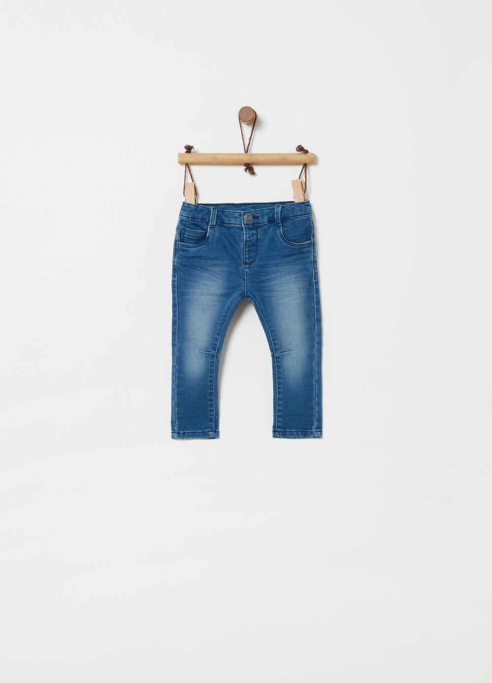 Jeans regular fit stretch effetto delavato