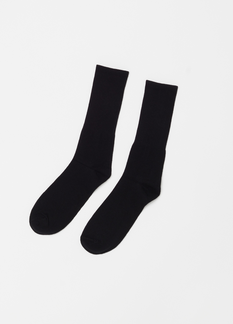 Seven-pack long solid colour socks image number null