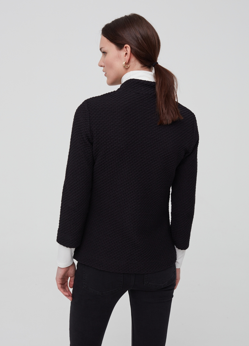 Jacket with raised weave image number null
