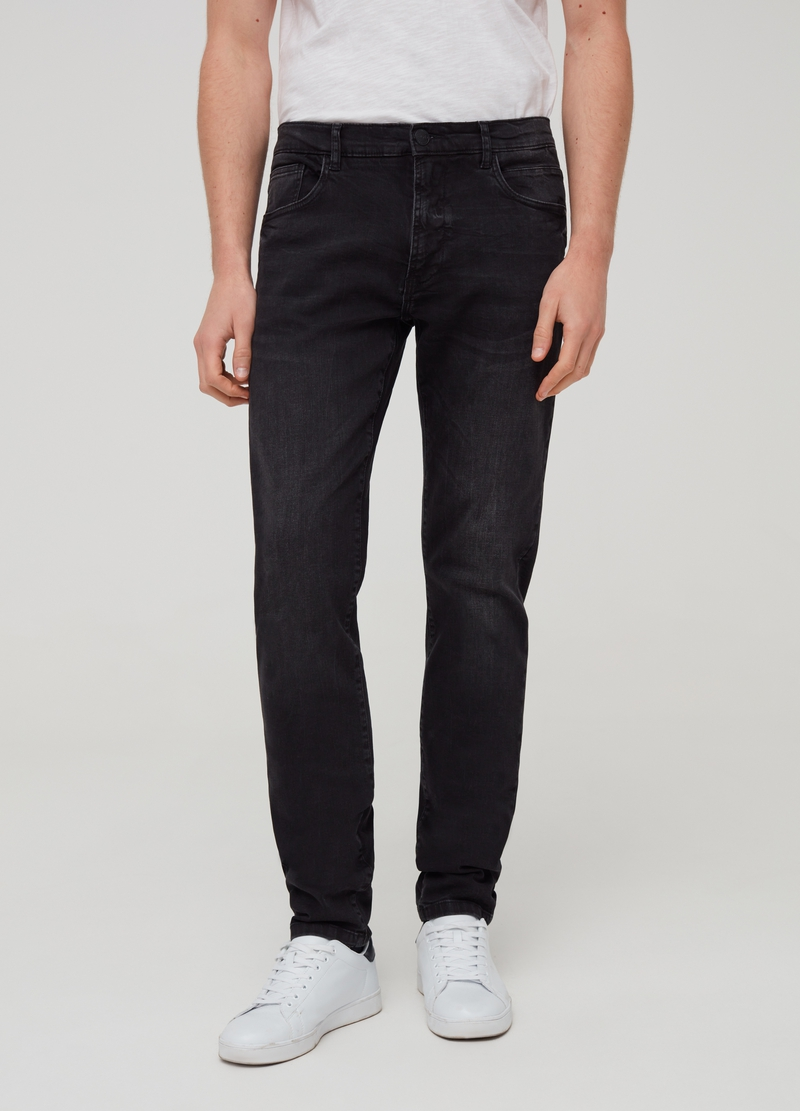 Jeans slim fit stretch effetto delavato image number null