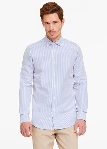 Slim-fit shirt with striped pattern