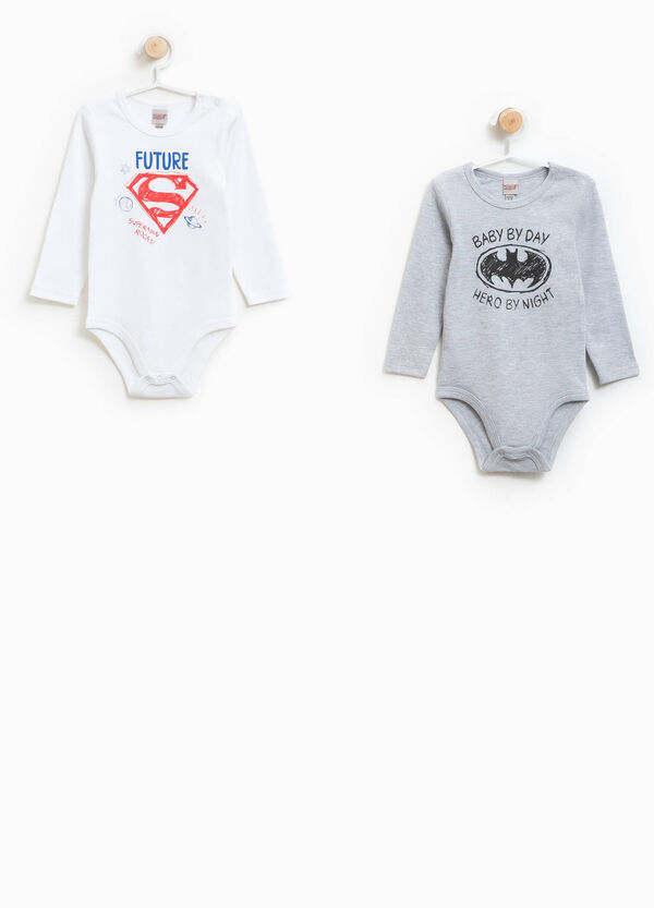 Set consisting of two Justice League bodysuits in 100% cotton