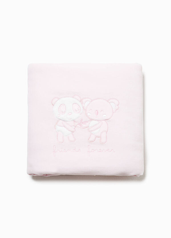 Cotton crib blanket with embroidery | OVS
