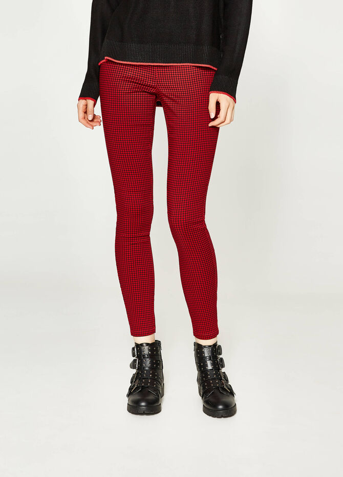 Stretch jeggings with all-over print